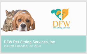 pet sitting business card