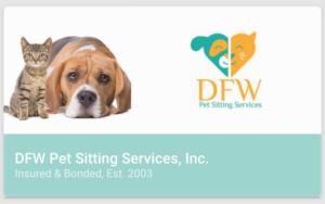 pet sitting business card